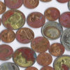 Gambia coin mix - water damaged 35 coins