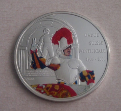 10 Francs Colored Swiss Guard 500th Anniversary
