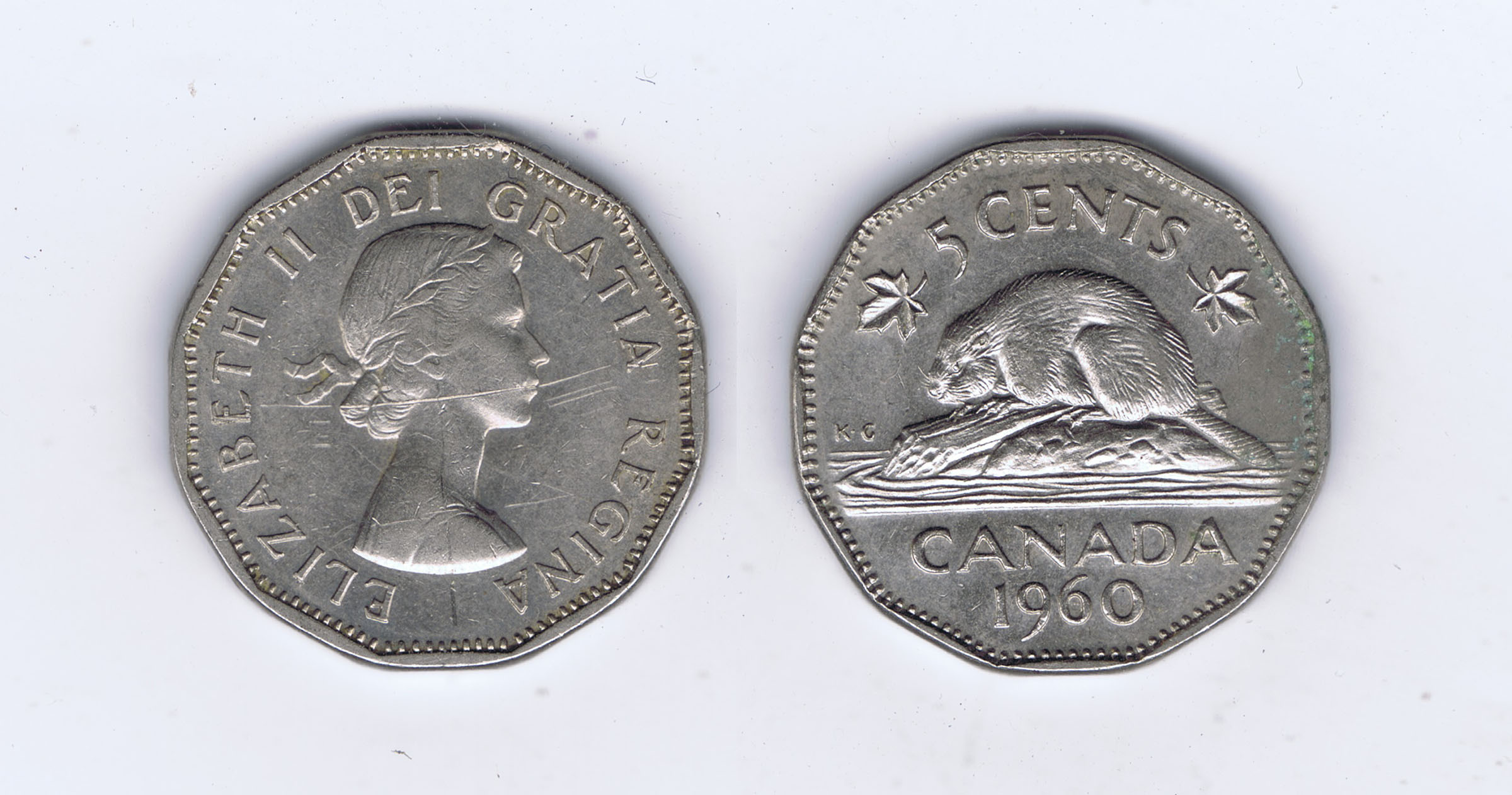 Canada 1961 Nickel Pictures Elizabeth II & a Beaver- Roll of 40