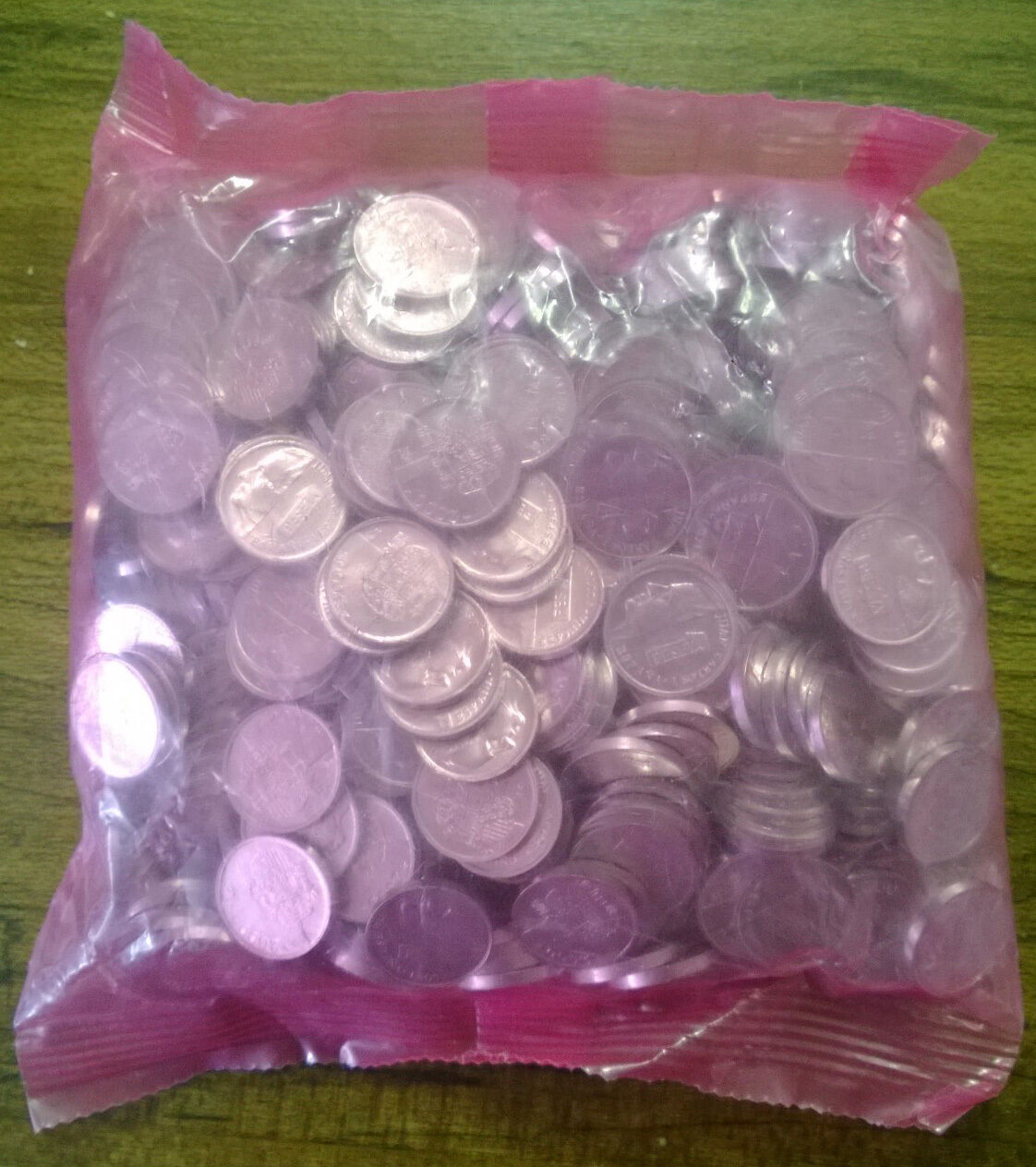 WHOLESALE 500 SPAIN UNC COINS of 2000 KM # 832 MILLENNIUM in BANK WRAPPED BAG