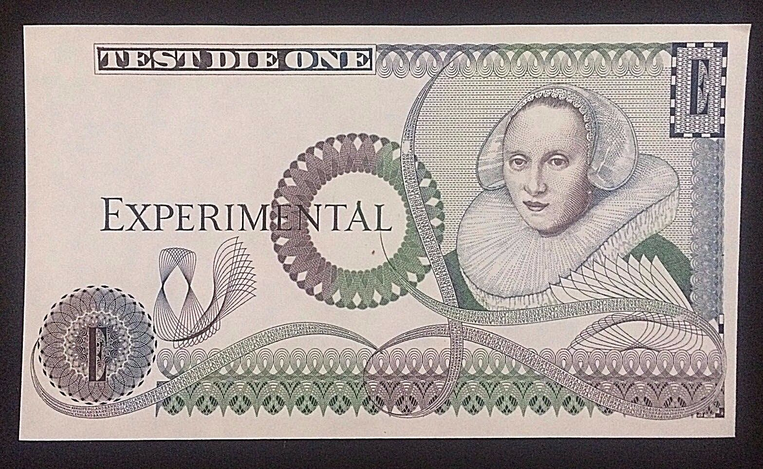WHOLESALE 100 with MICRO PRINTING BANK of ENGLAND TEST DIE ONE EXPERIMENTALS UNC