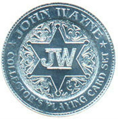 JOHN WAYNE PLAYING CARD COIN MEDALLION x 10 PIECES UNC